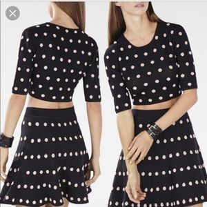 BCBG polka dot crop top